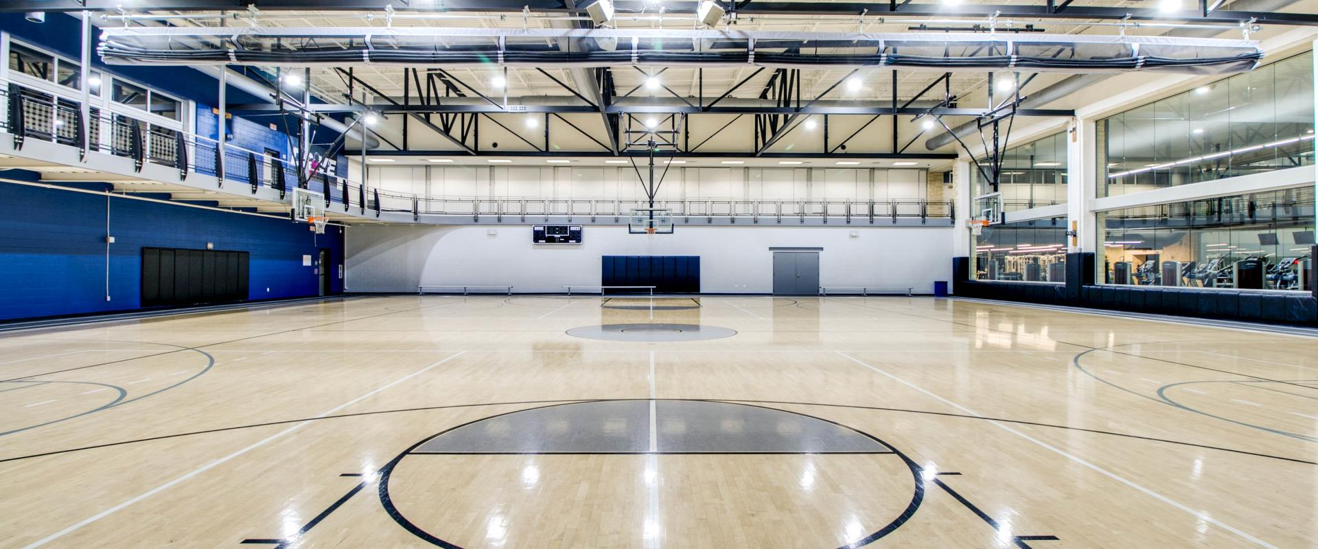 Keller Indoor basketball gym